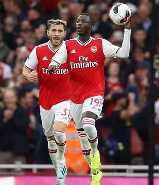 Premier but de l'ivoirien Nicolas Pépé avec son nouveau club Arsenal