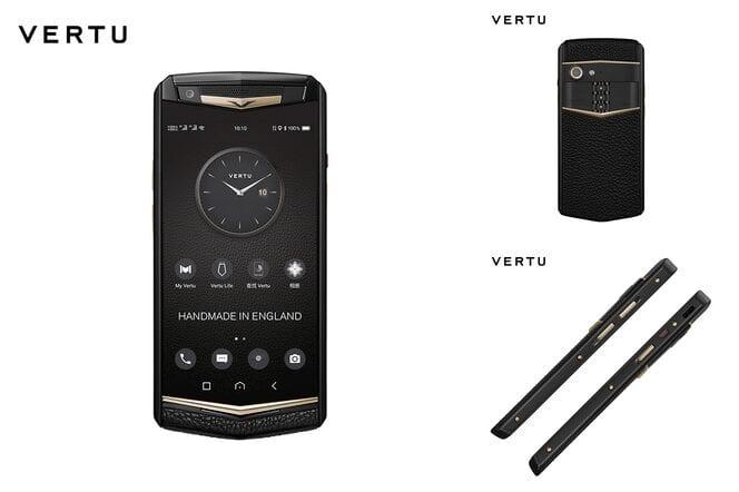 Adebayor Sheyi avec le téléphone Vertu qui coûte 12 850 euros
