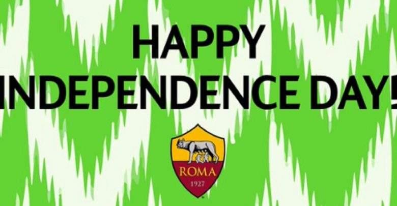 L'A.S. Roma souhaite aux Nigérians une bonne fête d'indépendance de façon surprenante
