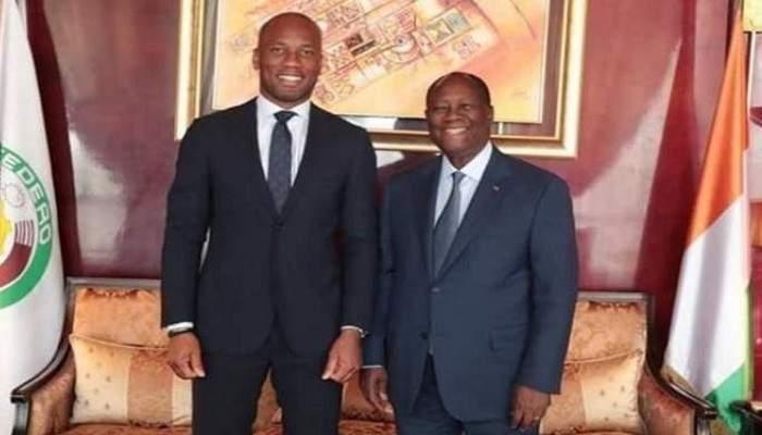 Pourquoi Drogba a-t-il visité le président Ouattara?