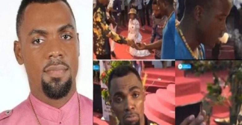 Ghana: un pasteur dit à un de ses fidèles de fumer la drogue pendant le culte(vidéo)