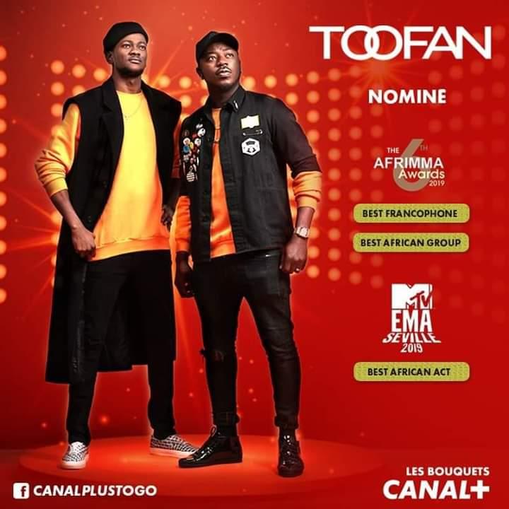 Pluie de nominations pour le groupe Toofan aux différents Awards