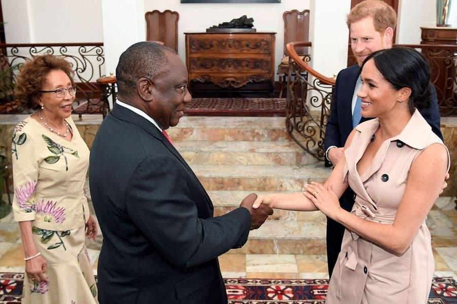 Meghan Markle Le Prince Harry Cyril Ramaphosa Et Tshepo Motsepe1