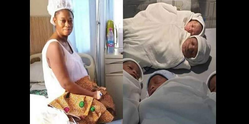 Une Ghanéenne de Âgée de 45 ans,  naissance à des quintuplés après 20 ans de mariage sans enfant