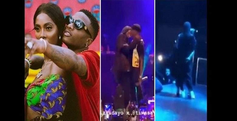 Wizkid et Tiwa Savage en couple ? Ils s'embrassent lors d'un concert à Paris (vidéo)