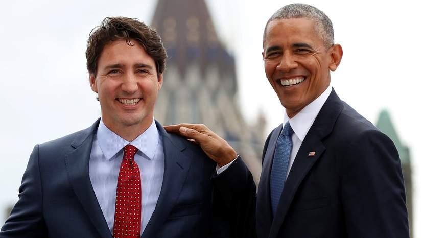 Canada : Barack Obama soutient la candidature de Justin Trudeau