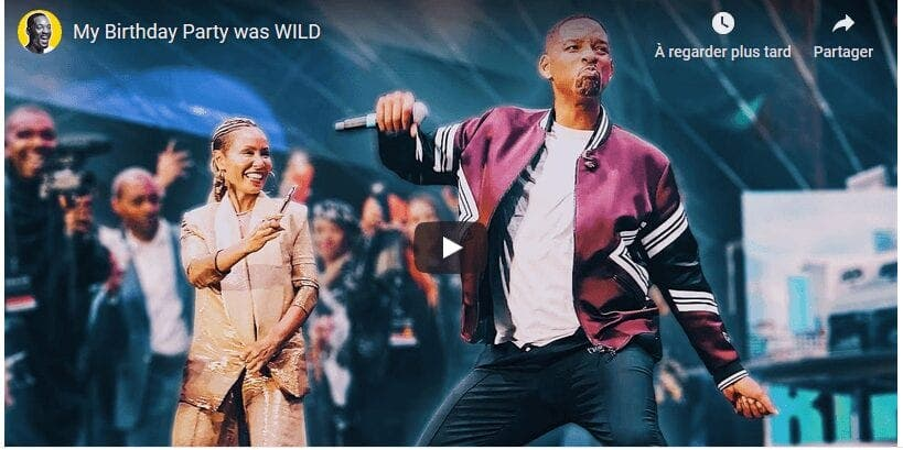 Vidéo : L'incroyable anniversaire de Will Smith