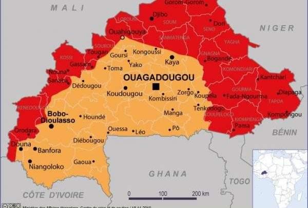 Le Burkina Faso « entièrement déconseillé » aux voyageurs selon le Ministère français des affaires étrangères