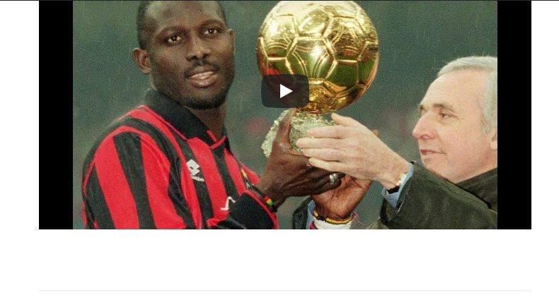 Voici comment George Weah a réussi à remporter le Ballon d'Or en 1995 (Vidéo)