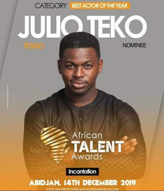 Bonne nouvelle pour l'acteur togolais Julio Têko