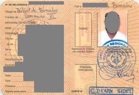 Mali : Le prix de la carte d'identité fixée à 1700 FCFA