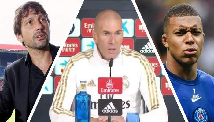 Réal Madrid: Zidane répond à Leonardo sur le transfert de Mbappé