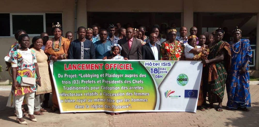 Ogou: ODHI lance son projet «Accès des femmes au trône royal au Togo»