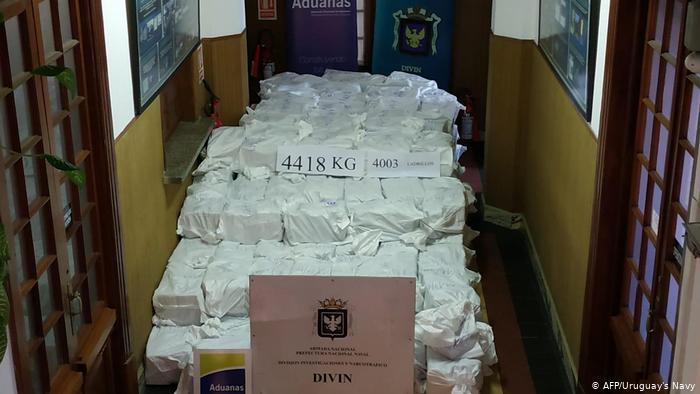 Uruguay, une plaque tournante du trafic de cocaïne en direction du Togo