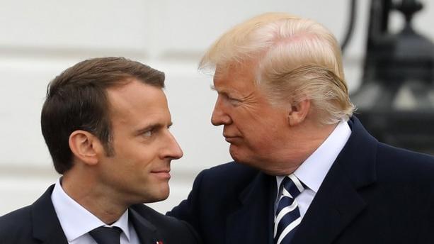"""Diplomatie: Tump qualifie Macron de """"petit"""" et d'""""emmerdeur"""""""