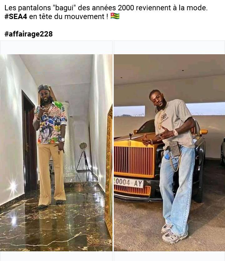 Adebayor tente de ressusciter les pantalons à pattes d'éléphants