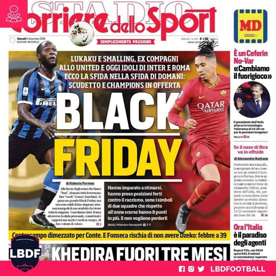 Serie A: La Une raciste du Corriere dello Sport sur Lukaku et Smalling