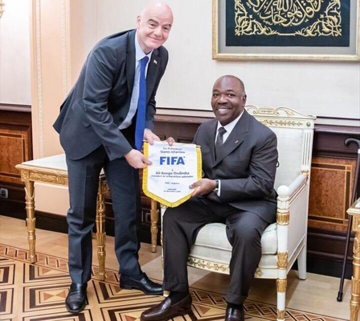Football: GianniInfantinochezAliBongo Ondimba