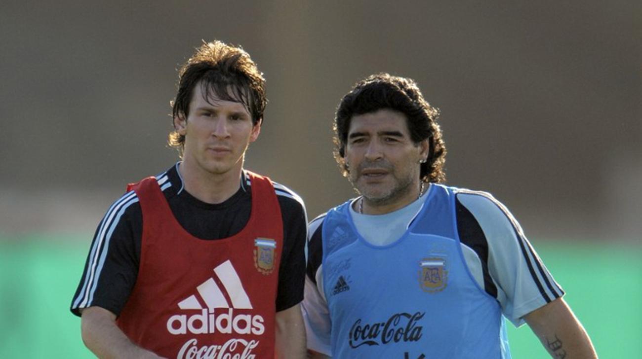 Messi annoncé chez Maradona en Italie