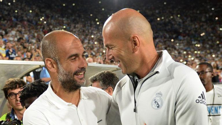 Pep Guardiola félicite Zinedine Zidane ainsi que le Real