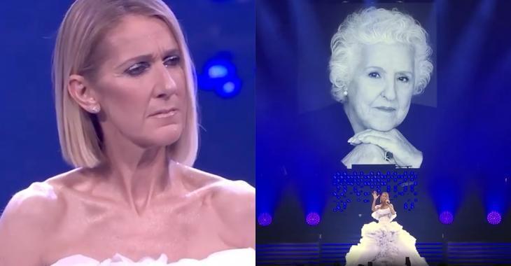 À VOIR | Céline Dion a chanté une chanson en l'honneur de sa mère décédée à son dernier spectacle
