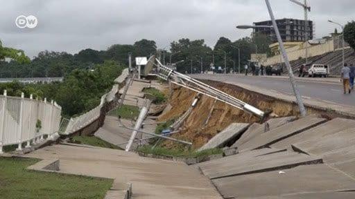 Congo Brazzaville : Une corniche inaugurée en 2016 s'effondre