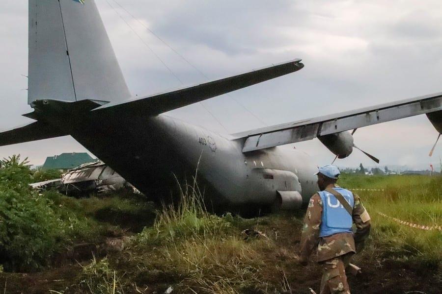 Un avion militaire sud-africain s'écrase en RD Congo avec des soldats de l'ONU