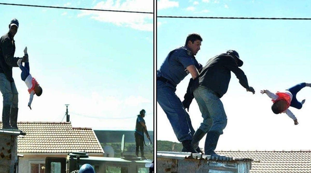 Ce père jette son bébé d'un an du haut d'un toit et ne va pas en prison (VIDEO)