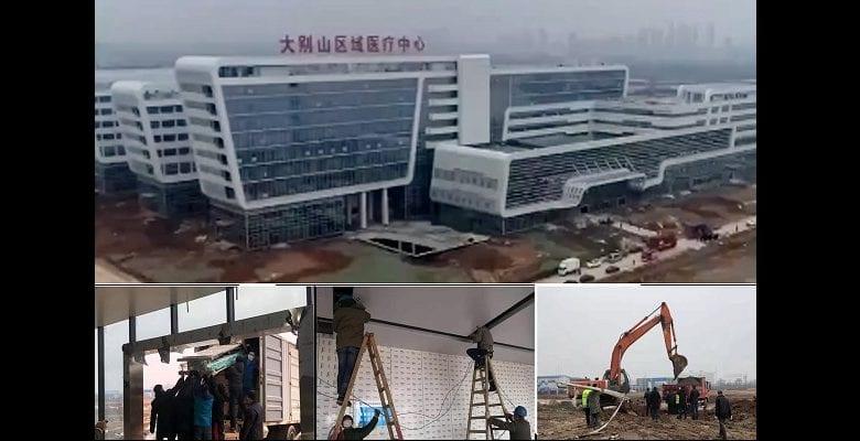 Coronavirus : la Chine construit un hôpital en 48 heures (vidéo)