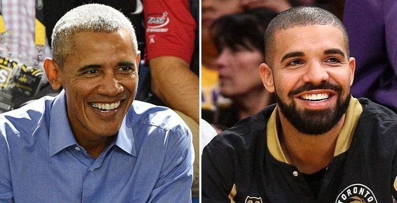 Quand Drake tombe sur une surprise de Michelle et Barack Obama