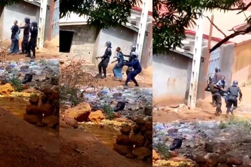 Guinée : des policiers se servent d'une femme comme bouclier humain