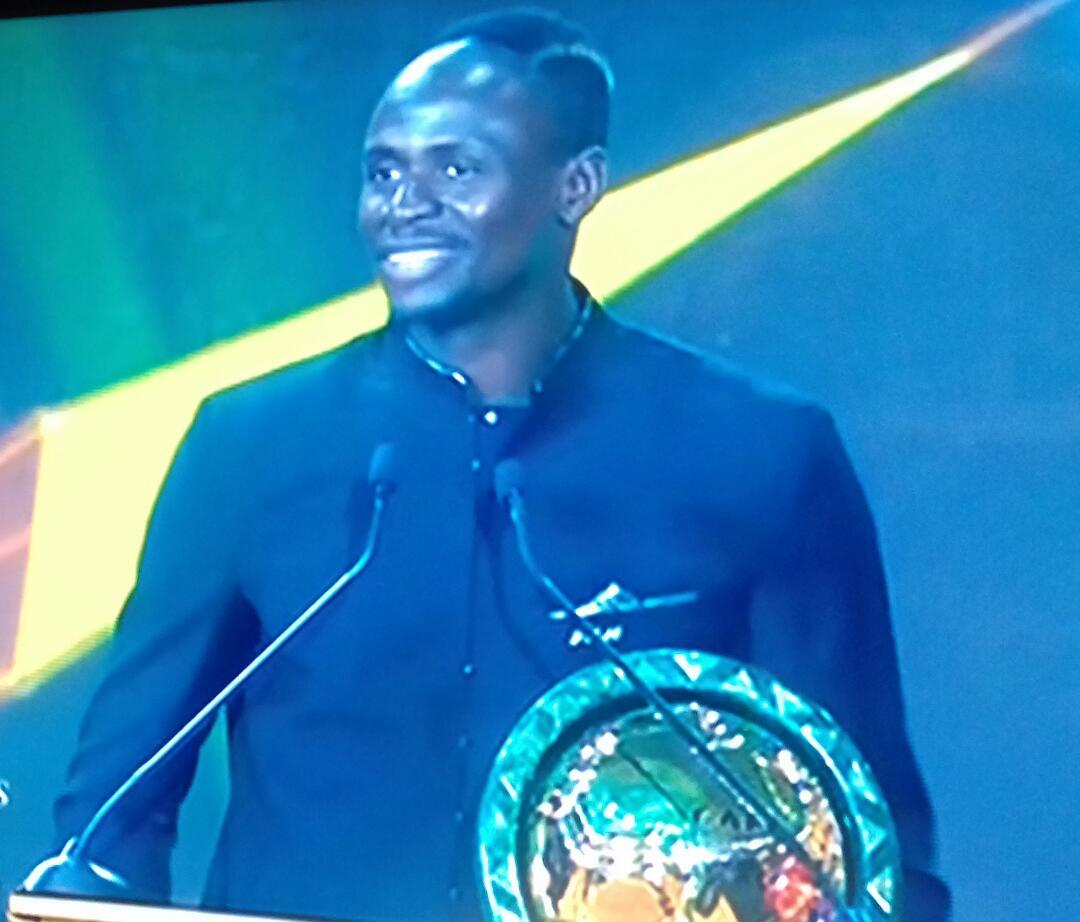 Sadio Mané , reconnu ballon d'or africain par la CAF