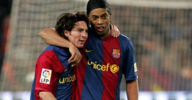 """""""Messi a tout, il n'avait besoin de rien de moi""""- Ronaldinho à propos de Messi"""