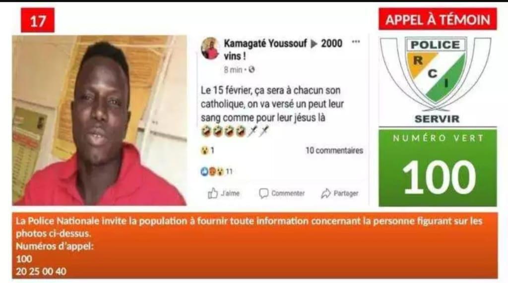 Côte d'ivoire : Un homme recherché par la police après ses propos haineux sur Facebook