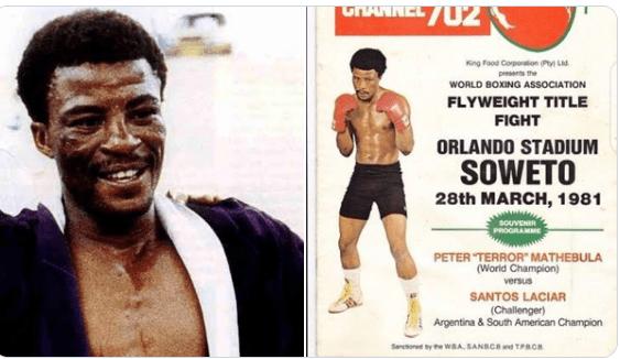 Peter Mathebula : Décès du premier champion de boxe noir d'Afrique du Sud