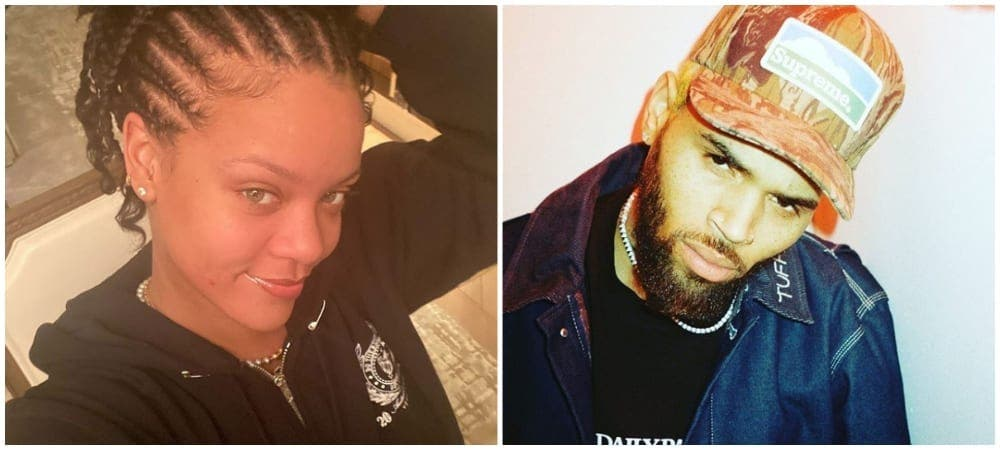 Rihanna célibataire: la réaction de Chris Brown