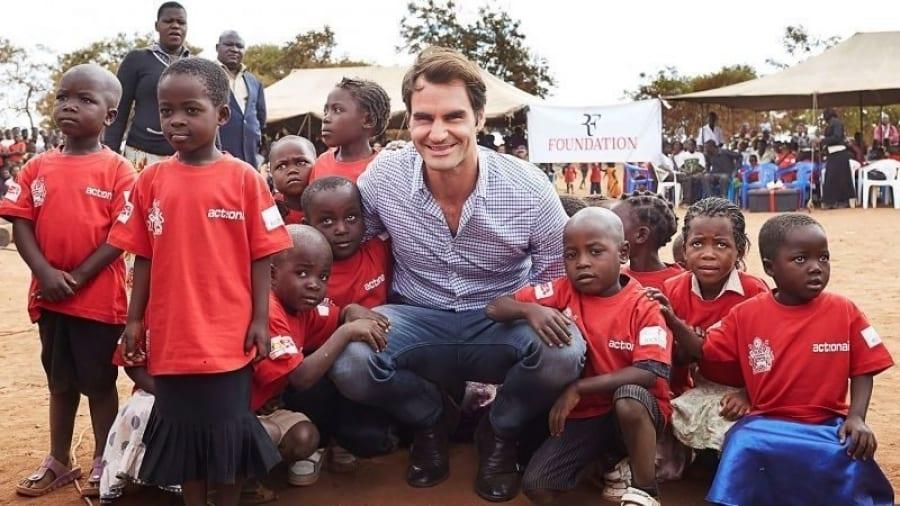 Roger Federer agît pour l'éducation des enfants africains
