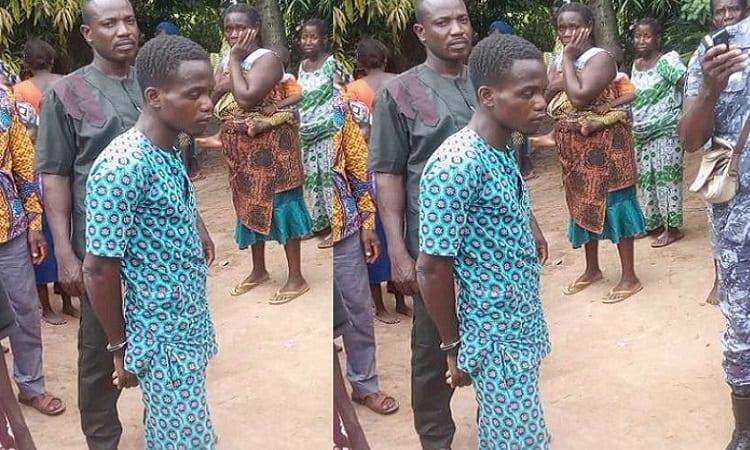 Togo: Ce jeune homme coupe la tête de son père. La raison vous surprendra. Photo