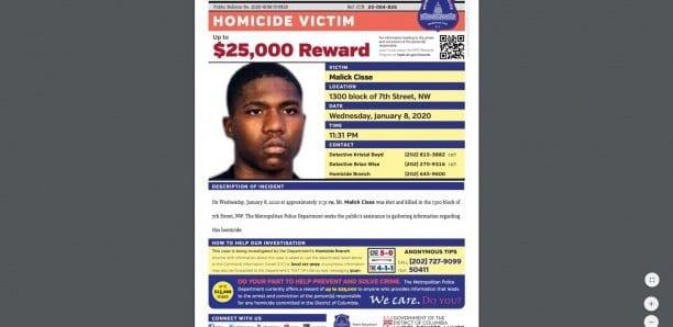 Un Sénégalais de 18 ans abattu par balle aux Etats-Unis