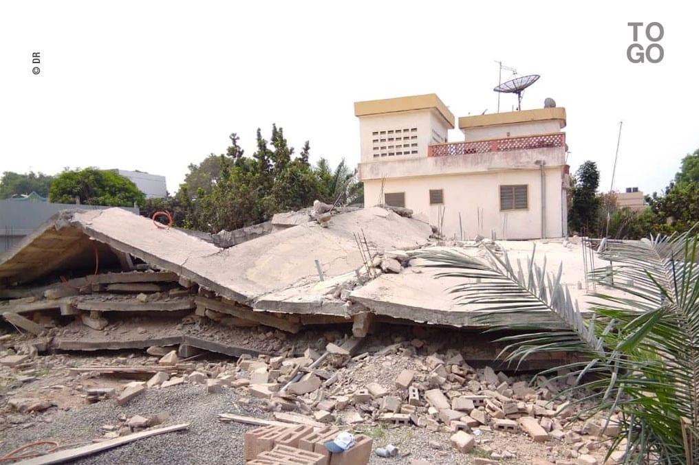 Togo: Effondrement d'un immeuble à Sito Aéroport