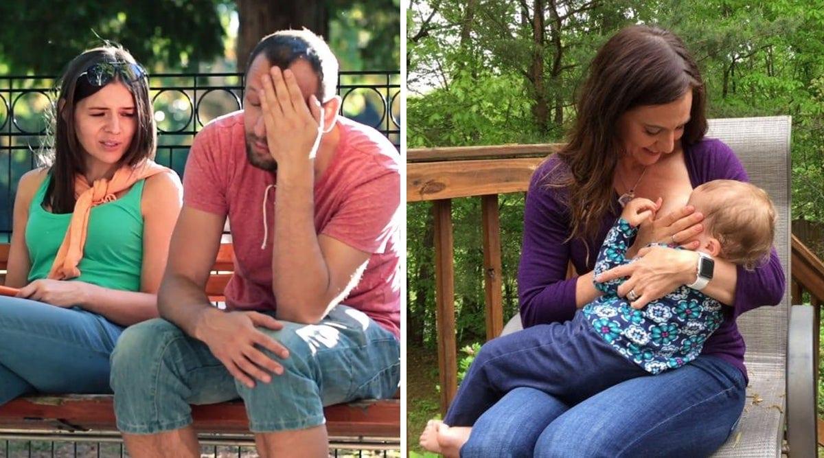 Une femme demande à une maman allaitante de quitter le parc parce que l'allaitement distrait son mari