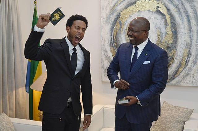 L'artiste américain Ludacris a reçu le passeport gabonais