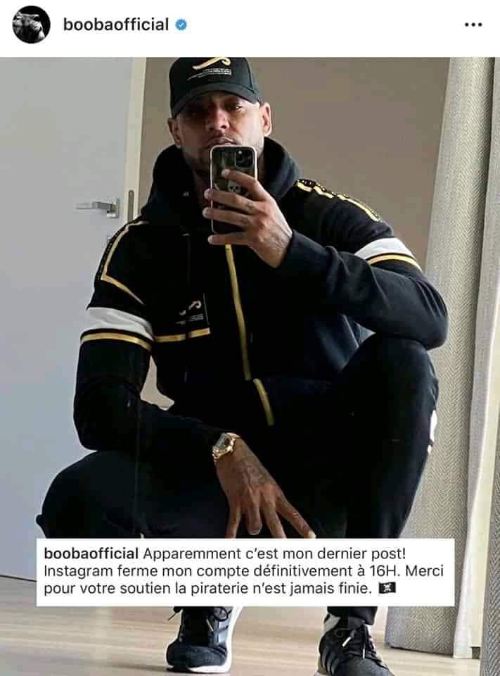 Instagram supprime le compte officiel de Booba