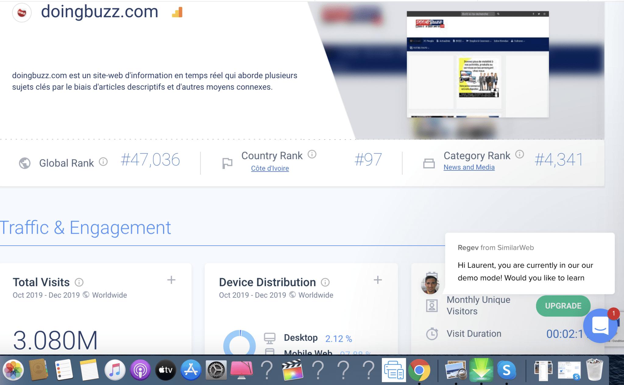 Doingbuzz.com, c'est désormais plus de 3 Millions de visiteurs