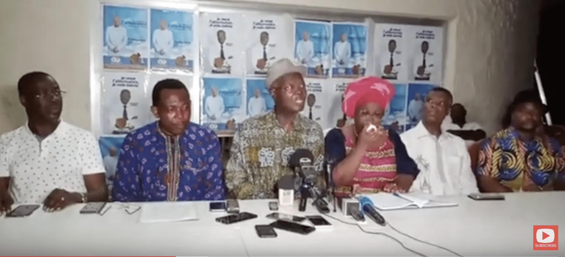 RESULTAT ELECTION TOGO : Conférence de presse du candidat Agbéyomé Kodjo de la dynamique Kpodzro.