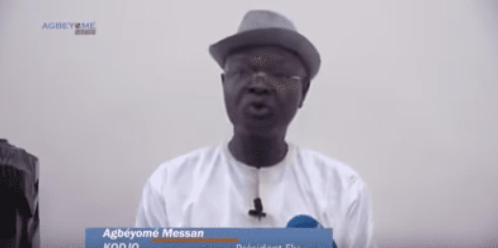 Urgent Présidentielle au Togo , Agbéyomé Kodjo se déclare Président Elu