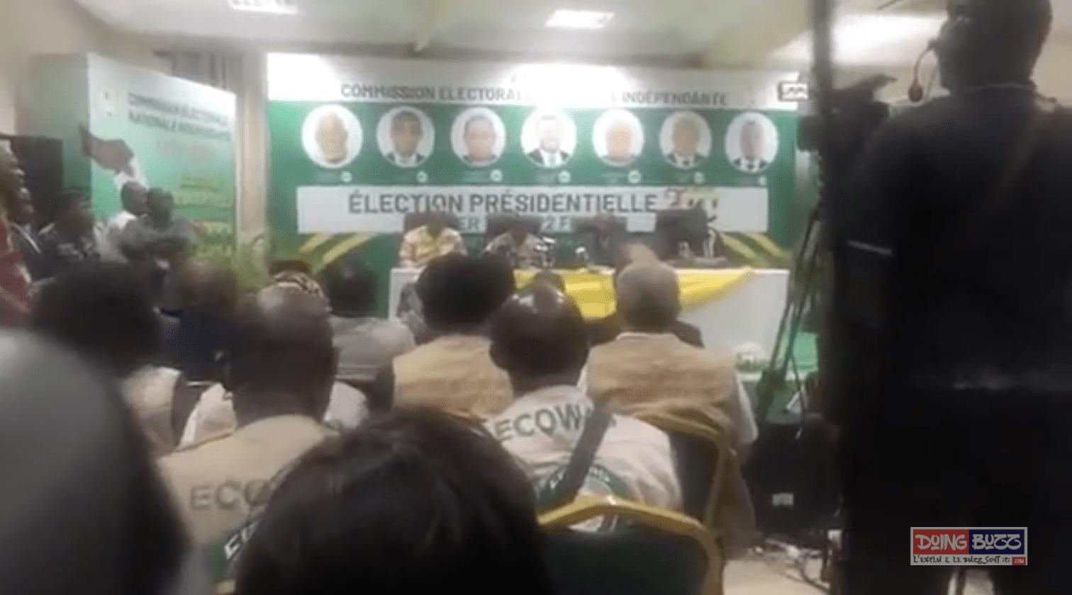 ELECTIONS PRESIDENTIELLES DU TOGO EN 2020: LA CENI PROCLAME LES RESULTATS PROVISOIRES.