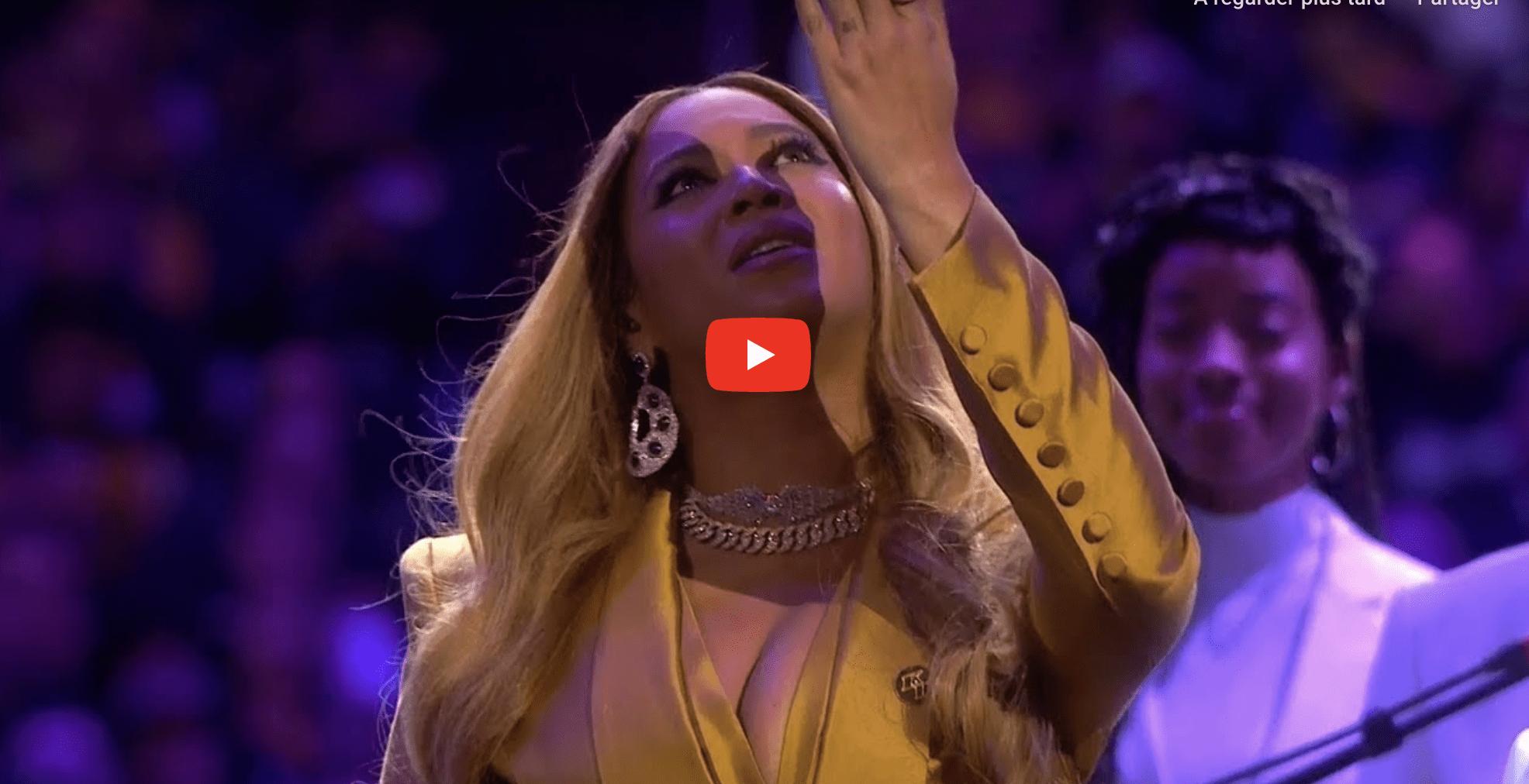 Vidéo : Beyoncé chante pour l'hommage à Kobe Bryant