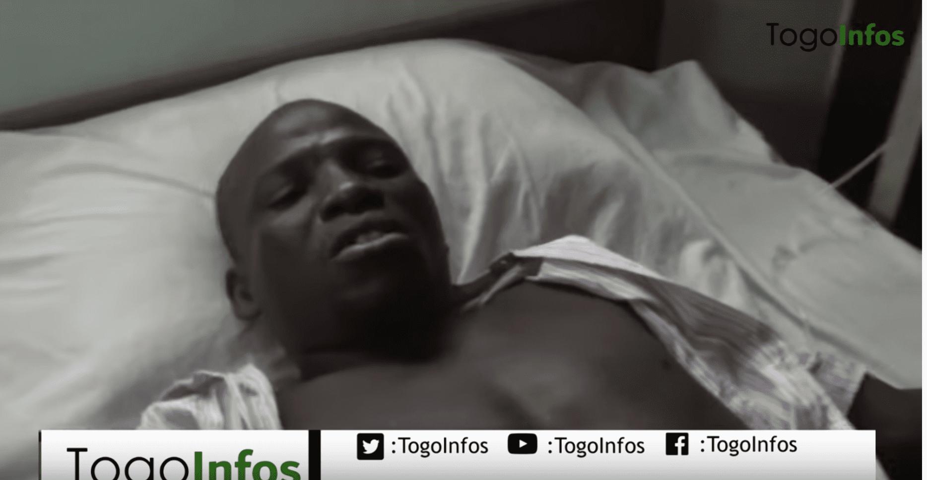 Togo Eléction: voici une victime des bavures policières sur son lit d'hôpital
