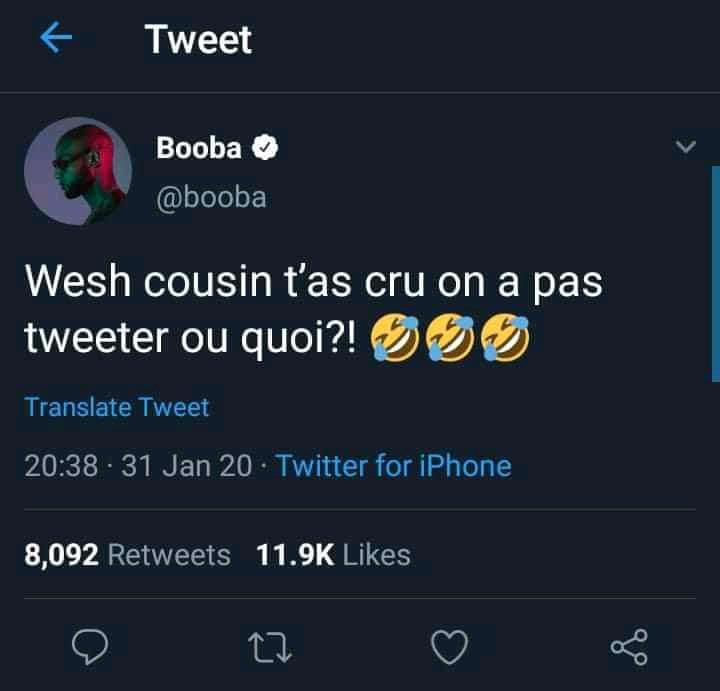 Booba débarque en force sur Twitter après la suppression de son compte Instagram